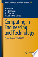 Computing In Engineering And Technology Book PDF