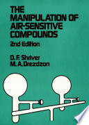 The Manipulation of Air Sensitive Compounds Book