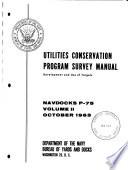 Utilities Conservation Program Survey Manual