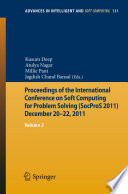 Proceedings Of The International Conference On Soft Computing For Problem Solving Socpros 2011 December 20 22 2011