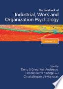 The Sage Handbook Of Industrial Work Organizational Psychology 3v