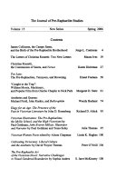 The Journal Of Pre Raphaelite Studies