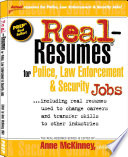 Real resumes for Police  Law Enforcement   Security Jobs
