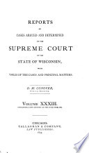 Wisconsin Reports Book