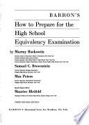 Barron's how to Prepare for the High School Equivalency Examination