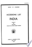 Accessions List, India