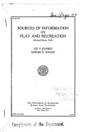Sources of Information on Play and Recreation