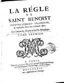 La règle de Saint Benoit