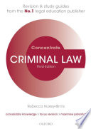 Criminal Law Concentrate  : Law Revision and Study Guide