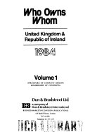 Who Owns Whom United Kingdom Republic Of Ireland