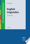 English Linguistics  : An Introduction