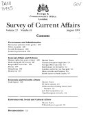 Survey of Current Affairs
