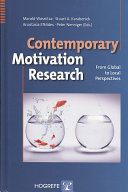 Contemporary Motivation Research Book