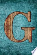 Monogrammed Notebook - G