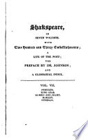 The Dramatic Works of William Shakspeare: Pericles. King Lear. Romeo and Juliet. Hamlet. Othello. Glossary