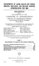 Departments Of Labor  Health And Human Services  Education  And Related     Hearings    Part 2    Committee On Appropriations  House Of Representatives    107th Congress  2nd Session