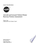 Aircraft and Ground Vehicle Winter Runway Friction Assessment Book