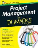 Project Management for Dummies   UK Book