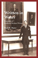 Written in Water Biography of Frederick Bernays Wiener Book PDF