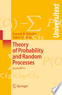Theory Of Probability And Random Processes Book PDF