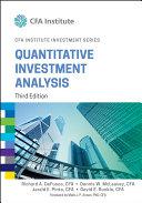 Quantitative Investment Analysis