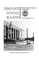Graduate School Bulletin Book