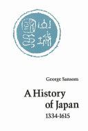 A History of Japan  1334 1615