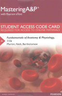 MasteringA&P with Pearson EText -- Standalone Access Card -- for Fundamentals of Anatomy and Physiology