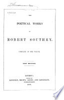 Southey s Poetical Works Book