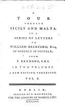 A Tour through Sicily and Malta     A new edition  corrected