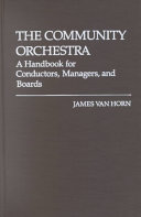 The Community Orchestra Book