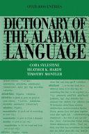 Dictionary of the Alabama Language