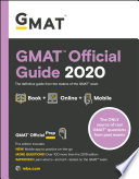 """GMAT Official Guide 2020: Book + Online Question Bank"" by GMAC (Graduate Management Admission Council)"