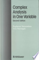 Complex Analysis in One Variable Book