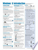 Windows 8 Quick Reference Guide (Cheat Sheet of Instructions, Tips and Shortcuts - Laminated Guide)