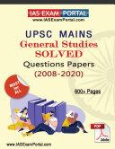 UPSC MAINS GENERAL STUDIES SOLVED PAPERS (2008-2020) PDF Pdf/ePub eBook