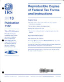 Reproducible Copies of Federal Tax Forms and Instructions  2013