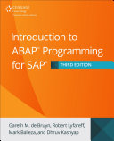 Introduction to ABAP Programming for SAP, Third Edition