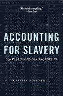 Pdf Accounting for Slavery