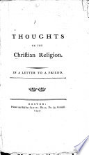 Thoughts on the Christian Religion