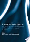Principles For Effective Pedagogy