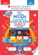 Oswaal ISC MCQs Chapterwise Question Bank Class 12  English Paper 1 Language Book  For Semester 1  2021 22 Exam with the largest MCQ Question Pool