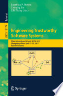 Engineering Trustworthy Software Systems Book