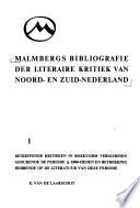 Malmbergs bibliografie der literaire kritiek van Noorden Zuid-Nederland