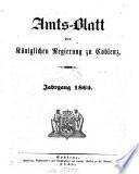 Amtsblatt der Preußischen Regierung zu Koblenz