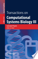 Transactions on Computational Systems Biology III Book