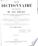 Grand Dictionnaire Universel  du XIXe Siecle  Francais  A Z 1805 76
