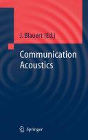 Communication Acoustics Book