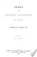 Index To The English Catalogue Of Books