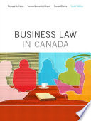 Business Law in Canada, Tenth Canadian Edition,